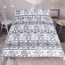 senarai harga mandala bedding set bohemia black white duvet cover set luxury plain twill home textiles twin full queen king 3pcs hot terkini di malaysia