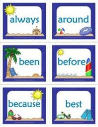 Second Grade Sight Words Flash Cards Summer Themed Dolch Sight Word Flashcards Second Grade A
