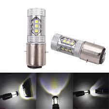 H6 Light Bulb Details About 1pc 12v Ba20d H6 80w 16led Headlight Hi Lo Drl Fog Light Bulb For Motorcycle Atv