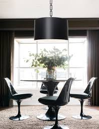 lighting over dining room table. Drum Pendant Lighting Over Dining Room Table E