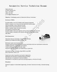 Auto Mechanic Resume Examples Maintenance Samples Mechanic Resume