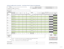 Excel Travel Expense Report Template Request Reimbursement And Travel Expense Report Template