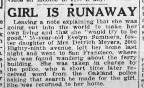 Evelyn Summers Runaway - Newspapers.com