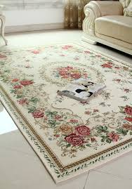 Living Room Carpet Designs Living Room White Red Roses Pattern Living Room Under Table Mat