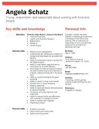 Examples Of Teenage Resumes Custom Resume For Teenager With No Work Experience Noxdefense