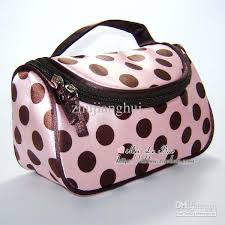 portable cosmetic bag makeup bag storage bags nylon toiletries bag mix colour 10pcs lot