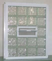 glass block window with vinyl wrap and nail fin for new construction