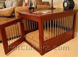 Dog Crate End Table Solid Mahogany and Brass Made in USA by