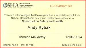 Free Forklift Certificate Template Safety Training Certificate Template