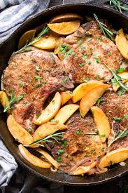 one skillet pork chops with apples