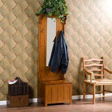 Oak Hall Tree Coat Rack Furniture Entryway Storage Bench With Coat Rack Decor Ideas Home 56