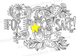For Sake Swear Words Printable Coloring Pages Color Words Coloring