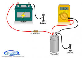how to charge a capacitor learning center sonic electronix how to charge a capacitor