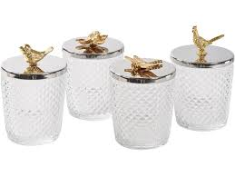 Decorative Jars With Lids Decorative Cut Glass Jars Lidded Display Jars With Gold Handles 10