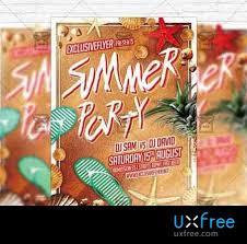 Summer Beach Party Flyer Template Instagram Size Flyer