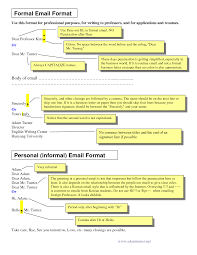 Email Letter Sample Sample Of Formal Business Writing Formal Email