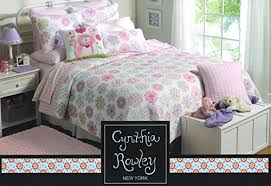 Toddler Bedding Cynthia Rowley 2pc Quilt Set Sophia Pink Turquoise ... & Toddler Bedding Cynthia Rowley 2pc Quilt Set Sophia Pink Turquoise Green  Cotton, Floral Girl Bedding Adamdwight.com