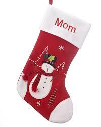 snowman christmas stockings. Perfect Snowman Red And White Personalized Christmas Stocking Snowman Throughout Snowman Stockings