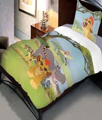 uber urban disney lion guard cartoon cotton single kids bedsheet with 1 pillow cover multicolor