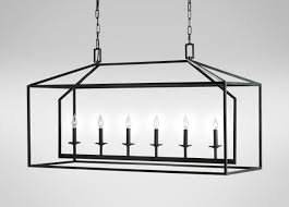 images killian linear chandelier large gray