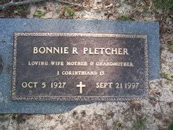 Bonnie Bollinger Pletcher (1927-1997) - Find A Grave Memorial