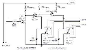 liquid fluid water float tank level switch circuit diagram using relay water level switch fluid level switch liquid level switch circuit schematic