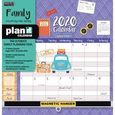 17 Month Calendar Family Plan It Plus 2020 Wall Calendar