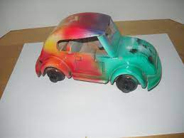 Unbranded Vintage Vw Volkswagen Beetle Model Car Red Orange Etsy Vintage Vw Volkswagen Beetle Vw Beetle Classic