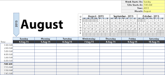 monthly calendar excel dynamic weekly calendar for excel robert mcquaig blog