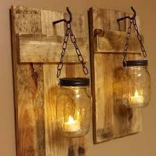 cottage mason jar chandelier. Mason Jar Candle Holder Set Of 2, Rustic Candles, Country Decor, Cabin Decor Cottage Chandelier