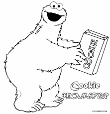 Small Picture Printable Cookie Monster Coloring Pages For Kids Cool2bKids