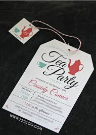Tea Invitations Printable Free Printable Tea Party Birthday Invite Inspiration Made Simple