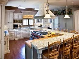 image of large kitchen layouts with island