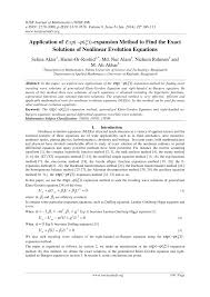 pdf of exp expansion method to find the exact solutions of nar evolution equations