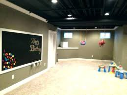 basement wall paint color ideas dry fall ceiling modern design black painting flat image of c