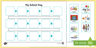 Timetable Creator Individual Visual Timetable Template