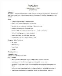 40 Librarian Resume Templates Free Sample Example Format Download Beauteous Assistant Librarian Resume