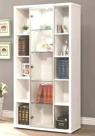 glass door bookcase white amazing billy doors with sliding