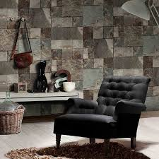 3d stones brick wall wallpaper retro