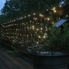 image of outdoor solar string lighting