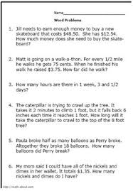 5Th Grade Math Word Problems Worksheets Worksheets for all ...