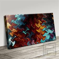 modern abstract interior design canvas