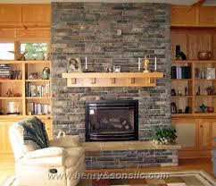 Gas fireplace inserts rocks Rocks inside fireplace
