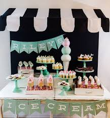 Riley Mesnicks 1st Birthday Party Ice Cream Shop Jenny Cookies