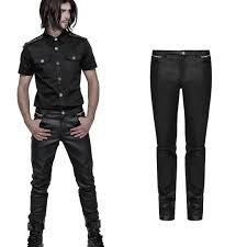 gothic uniform veggie leather pants x ray for men