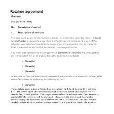 retainer consulting agreement consulting fee agreement template consulting agreement
