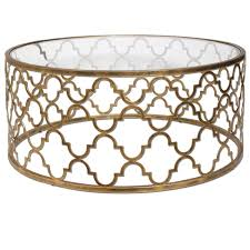 uttermost quatrefoil gold coffee table hover to zoom