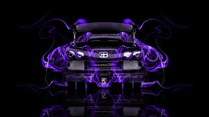 bugatti veyron back fire abstract car