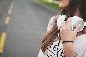 Beautiful Girl With Headphones ...