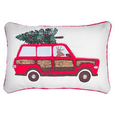 High Quality Car Applique And Embroidery Decorative Pillow Wi... : Target